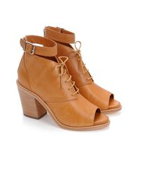 Loeffler Randall - Brown Lace-Up Bootie - Lyst