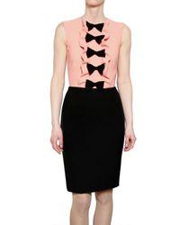 MSGM - Pink Techno Stretch Alpaca Dress with Bows - Lyst