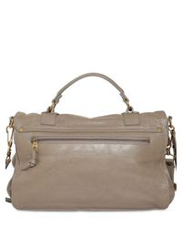 Proenza Schouler - Gray Ps1 Medium Lux Leather Satchel - Lyst