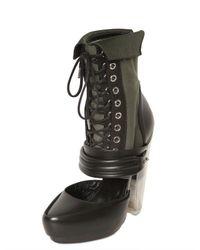 Rodarte   Glitter Heel Star Stud Sandals - Black   Lyst