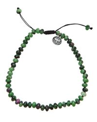 Joseph Brooks | Green Zoisite and Ruby Bracelet for Men | Lyst