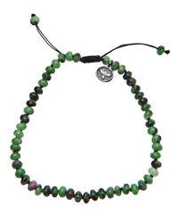 Joseph Brooks | Green Zoisite and Ruby Bracelet for Men | Lyst