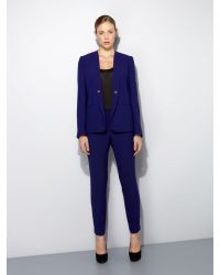 Pied a Terre | Blue Skinny Lepel Jacket | Lyst