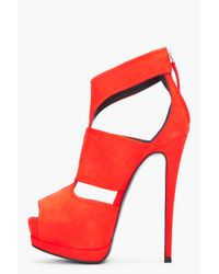 Giuseppe Zanotti - Red Suede Sharon Pumps - Lyst