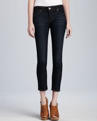 Paige | Blue Kylie Stream Cropped Jeans | Lyst