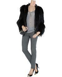 Vanessa Bruno Athé | Gray Striped Stretch-cotton Twill Skinny Pants | Lyst