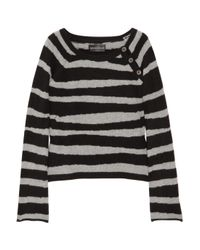 Zadig & Voltaire | Black Reglis Striped Cashmere Sweater | Lyst
