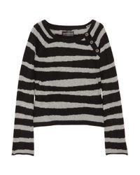 Zadig & Voltaire | Black Reglis Striped Cashmere Sweater | Lyst