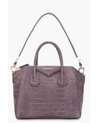 Givenchy | Gray Small Charcoal Antigona Bag | Lyst