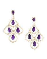 Kendra Scott | Purple Kyle Chandelier Earrings | Lyst
