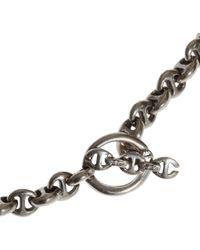 Hoorsenbuhs | Metallic Silver Diamond Toggle Necklace | Lyst