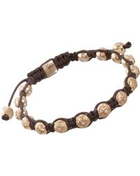 Shamballa Jewels - Beaded Bracelet with 19 Yellow Gold and Diamonds Beads 6mm - Lyst