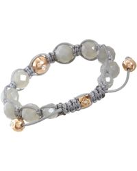 Shamballa Jewels - Gray Moonstone Pave Diamond Bead Bracelet - Lyst