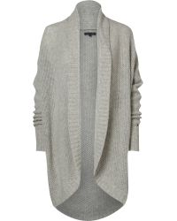 Tommy Hilfiger | Gray Olympia Cowl Neck Cardigan | Lyst