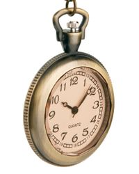 ASOS - Metallic Chunky Brass Pocket Watch Necklace for Men - Lyst