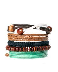 ASOS - Brown Asos Beach Bracelet Pack for Men - Lyst