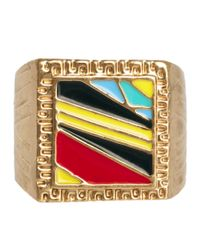 ASOS - Multicolor Asos Colourful Stone Ring for Men - Lyst