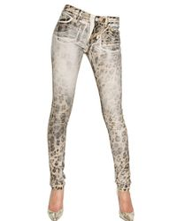 Blumarine | Multicolor Hand Waxed Stretch Cotton Denim Jeans | Lyst