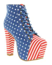 Jeffrey Campbell Lita Platform Ankle Boots In Blue Lyst