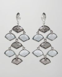 Kendra Scott | Metallic Kingston Earrings Silver | Lyst
