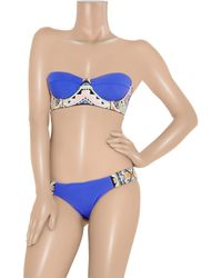 Mara Hoffman | Blue Embroidered Two-piece Bikini | Lyst