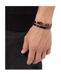 Miansai - Blue Foksol Leather and Metal Hook Bracelet for Men - Lyst