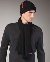 Prada | Gray Skull Knitted Cap for Men | Lyst