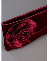 Valentino | Red Rose Detail Clutch | Lyst