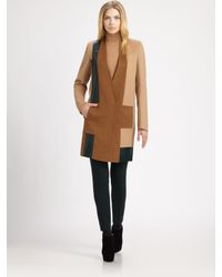 Akris | Natural Colorblock Camel Hair Coat | Lyst