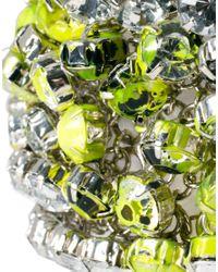 ASOS - Multicolor Neon and Rhinestone Wristband Bracelet - Lyst