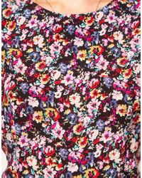 ASOS Multicolor Floral Playsuit with Knicker Shorts