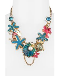 Betsey Johnson | Multicolor Sea Excursion Charm Necklace | Lyst