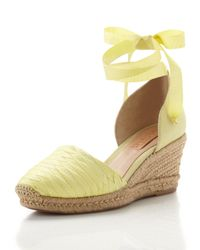 Schutz | Yellow Anklewrap Espadrille Lime Green | Lyst
