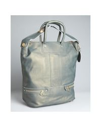 See By Chloé | Gray Moss Leather Large Convertible Tote | Lyst