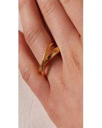 Tom Binns - Metallic Classic Saturn Ring - Lyst