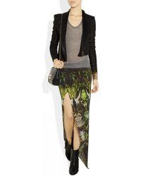 Helmut Lang   Multicolor Cicadae Print Slit Maxi Skirt   Lyst