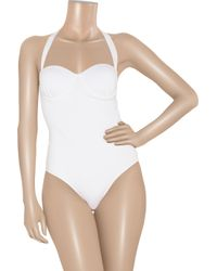 Melissa Odabash - White Savannah Molded Bandeau Swimsuit - Lyst