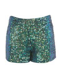 TOPSHOP | Blue Tall Bandana Print Shorts | Lyst