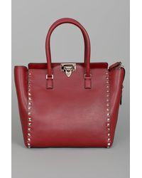 Valentino | Red Rock Star Studded Shopper  | Lyst