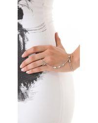 Vanessa Mooney | Gold The Cage Hand Ring Bracelet | Lyst