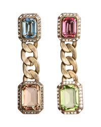 Lanvin - Metallic Strass Crystal Tutti Frutti Earrings - Lyst