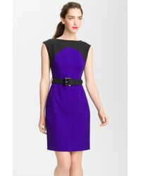 Milly | Blue Colorblock Dress | Lyst