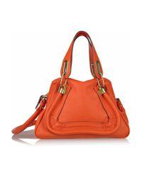 Chloé | Orange Paraty Small Leather Bag | Lyst