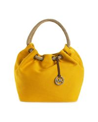 MICHAEL Michael Kors | Yellow Marina Large Canvas Shoulder Tote | Lyst