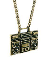 ASOS - Metallic Ghetto Blaster Necklace for Men - Lyst