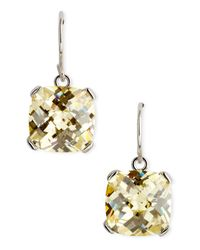 CZ by Kenneth Jay Lane | White Cushioncut Earrings  | Lyst