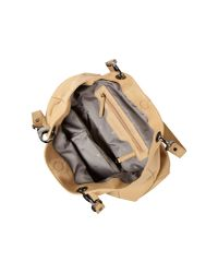 Kenneth Cole | Beige Handle It Over Leather Tote Of The Town | Lyst