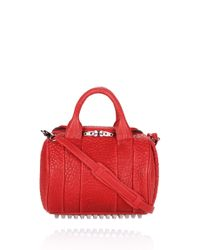 Alexander Wang   Red Rockie in Cayenne Pebble Lamb with Black Nickel   Lyst