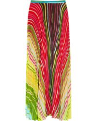 Alice + Olivia | Multicolor Shannon Printed Maxi Skirt | Lyst