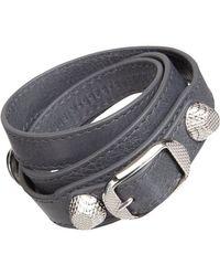 Balenciaga | Gray Arena Giant Double Tour Bracelet | Lyst